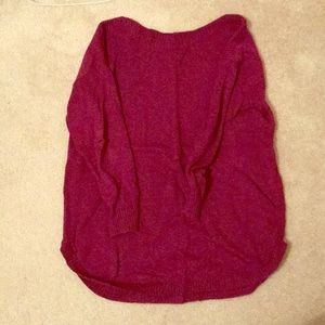 Wine colored sweater